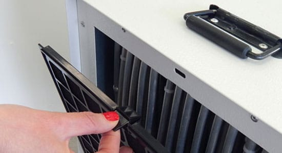 6. Check the Dehumidifier Coils for Frost:
