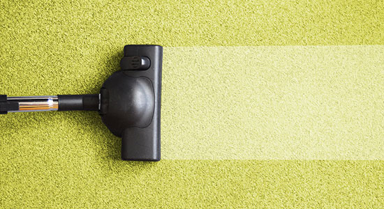 Use a window Squeegee when cleaning carpets